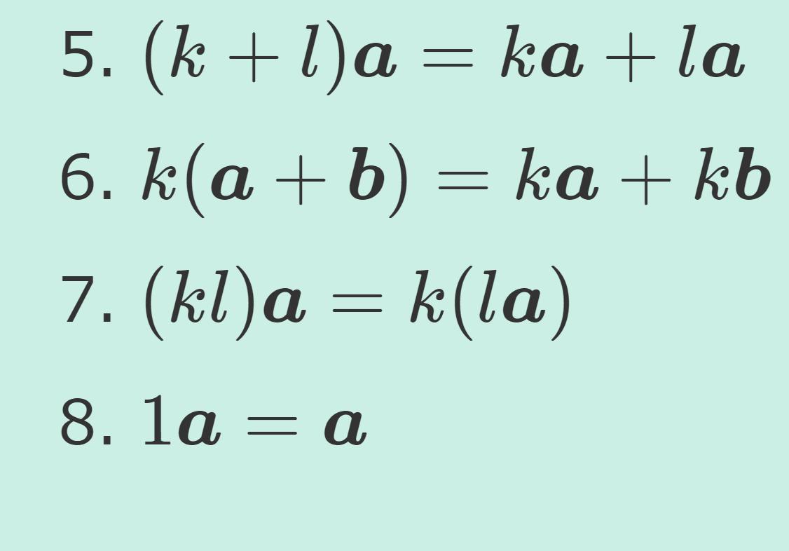 ベクトル空間の定義