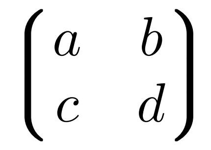 phisics パッケージの alternate parentheses による行列の画像