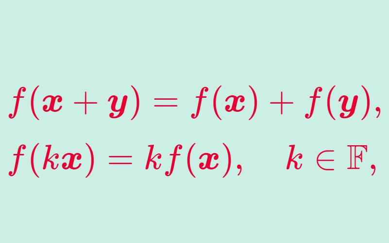 線形写像の定義