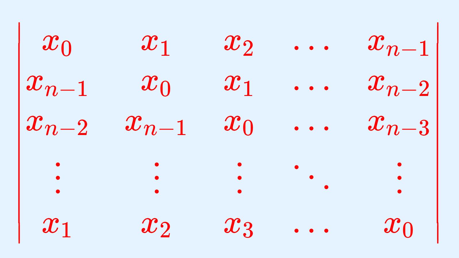 巡回行列式の計算
