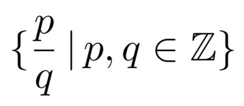 \Set{\frac{p}{q}}{p, q \in \mathbb{Z}} の出力例