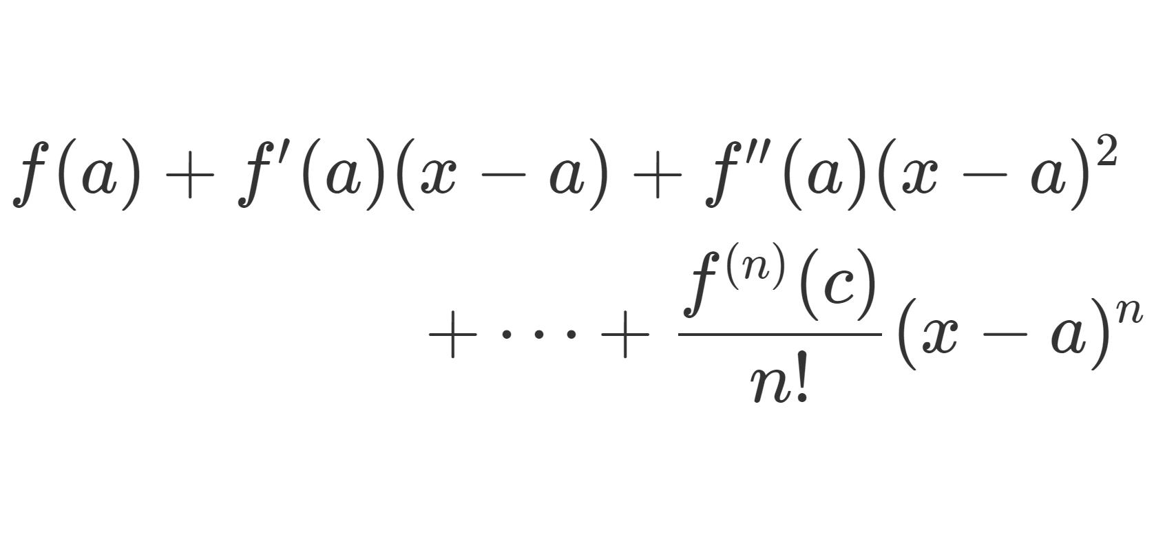 テイラーの定理