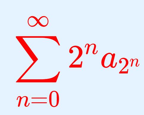【級数の収束判定法】Cauchy Condensation Test
