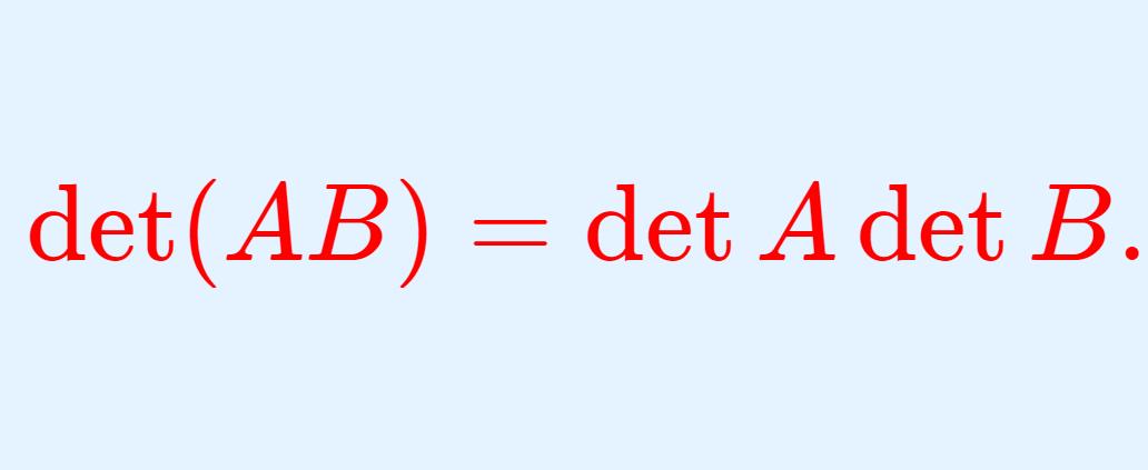 det AB = det A det B の画像
