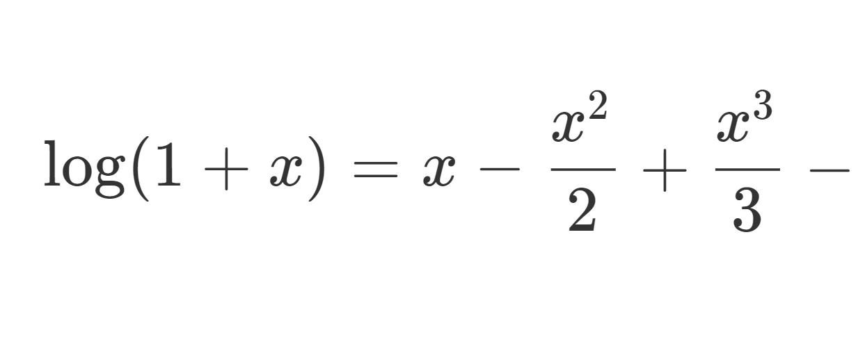 log(1+z)の0でのテイラー展開(マクローリン展開)