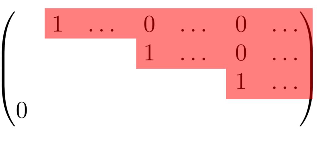 RREF行列のイメージ図