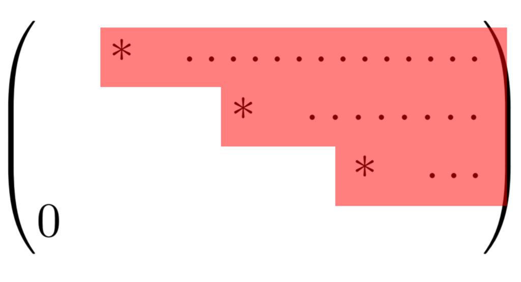階段行列のイメージ図