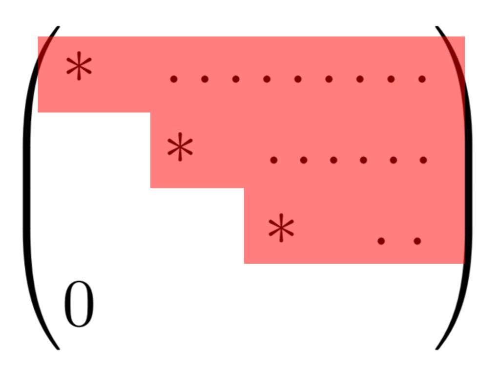 階段行列の定義のイメージ図
