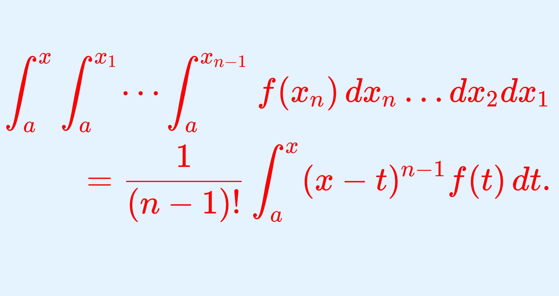 反復積分に関するコーシーの公式