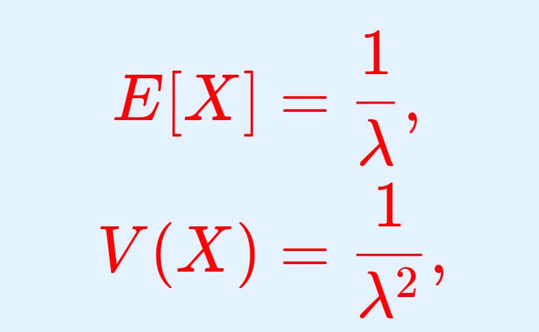 指数分布の期待値(平均)・分散