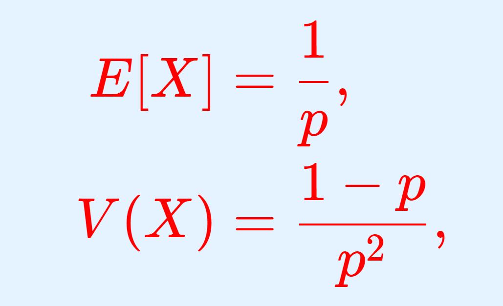 幾何分布の期待値(平均)・分散・標準偏差