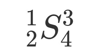 LaTeXにおける上付き・下付き添え字のつけ方