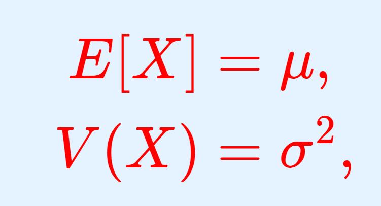 正規分布の期待値(平均)・分散・標準偏差
