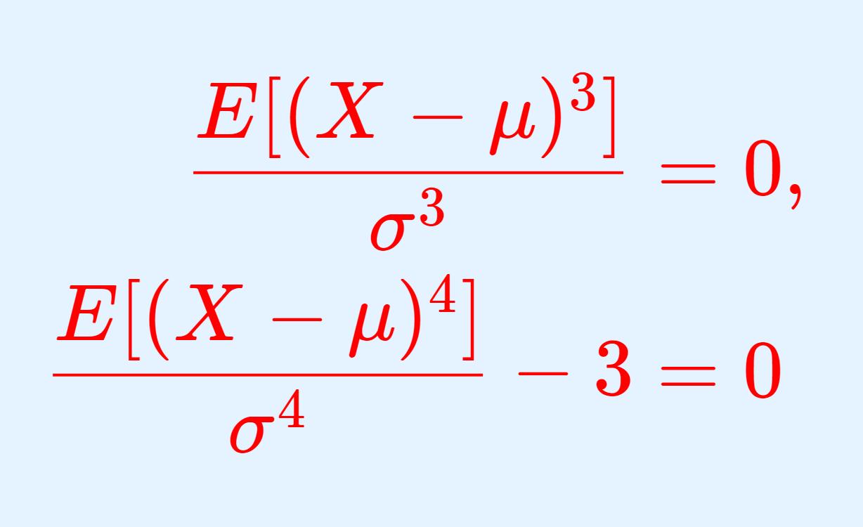 正規分布の歪度・尖度