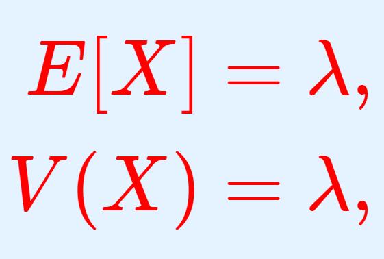 ポアソン分布の期待値(平均)・分散・標準偏差