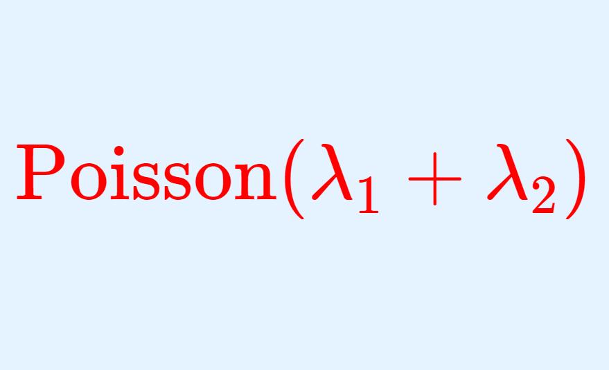 ポアソン分布の再生性