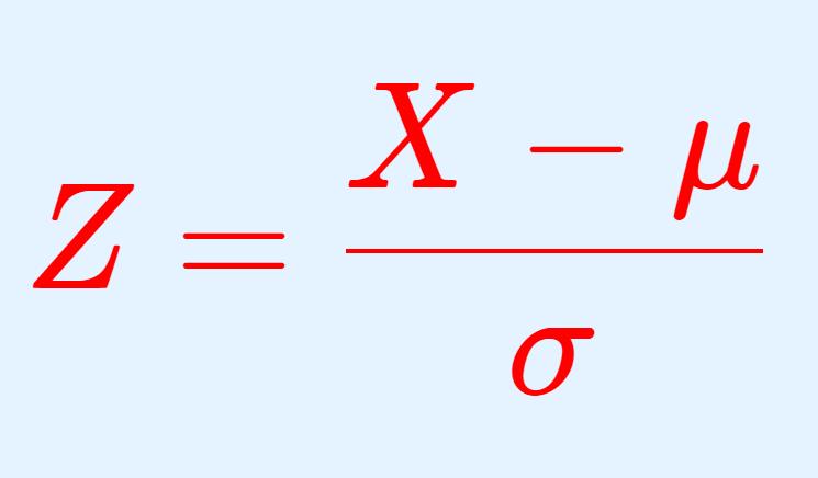 正規分布の標準化