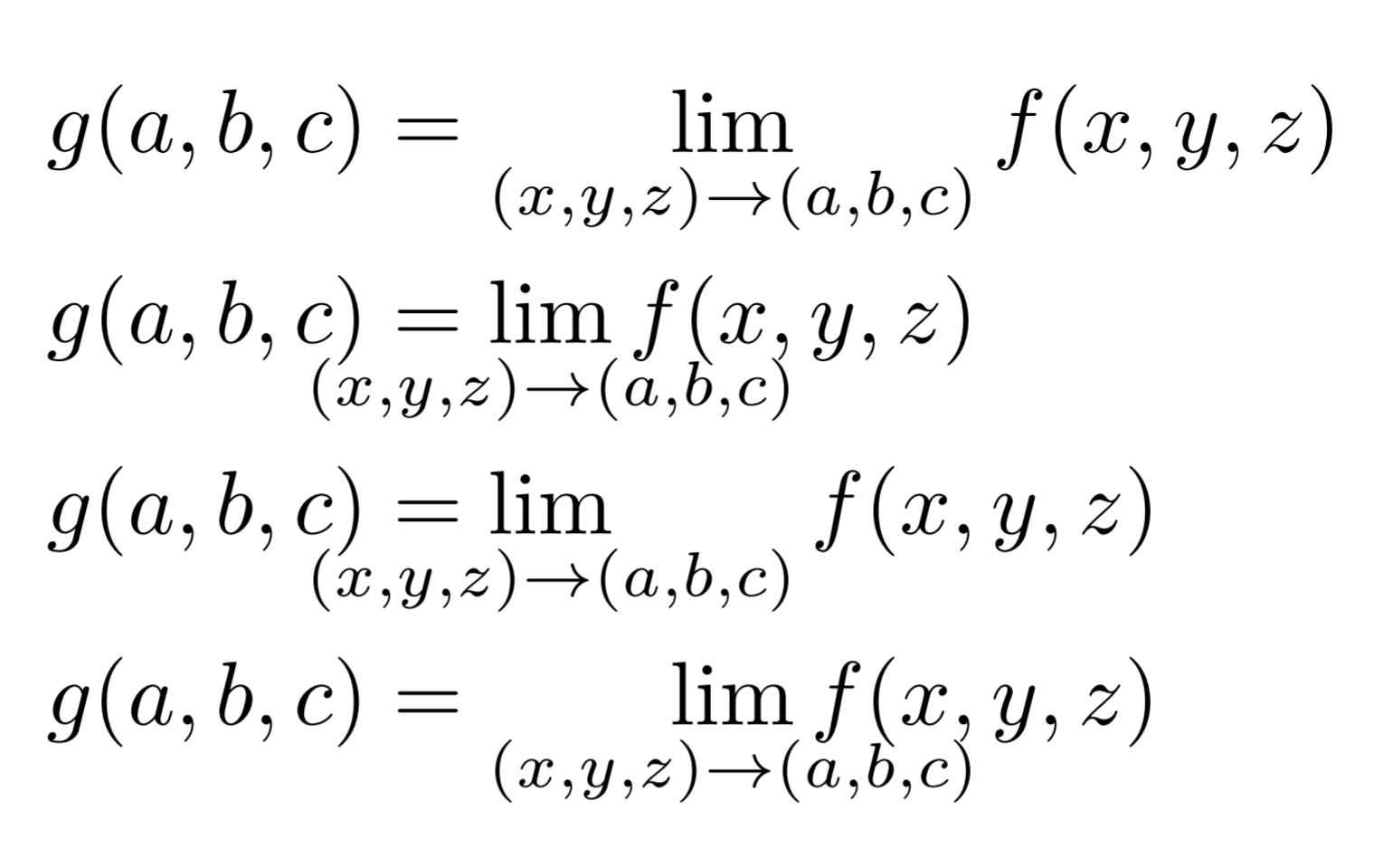 【LaTeX】極限(limなど)に関するコマンドとテクニック