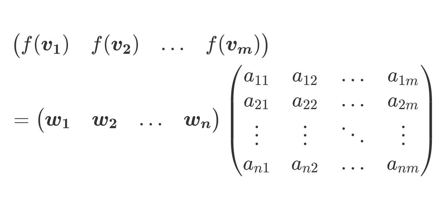 【表現行列】線形写像の行列表示を詳しく
