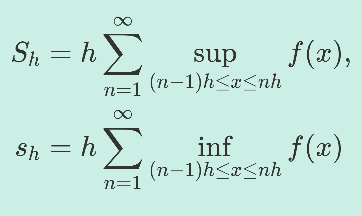 Directly Riemann Integrableの定義と例