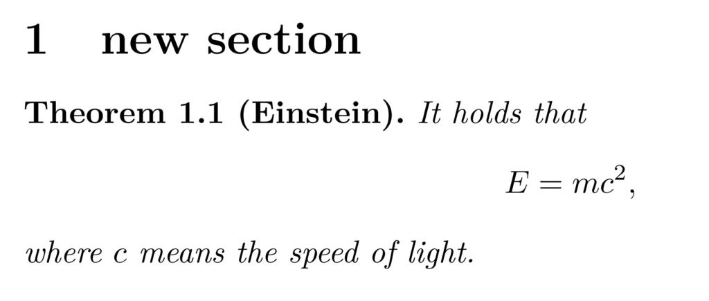 定理の書式の変更例1