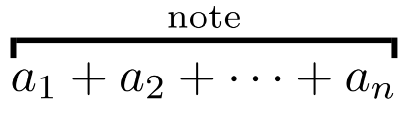 overbracket with note