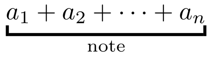 underbracket with note