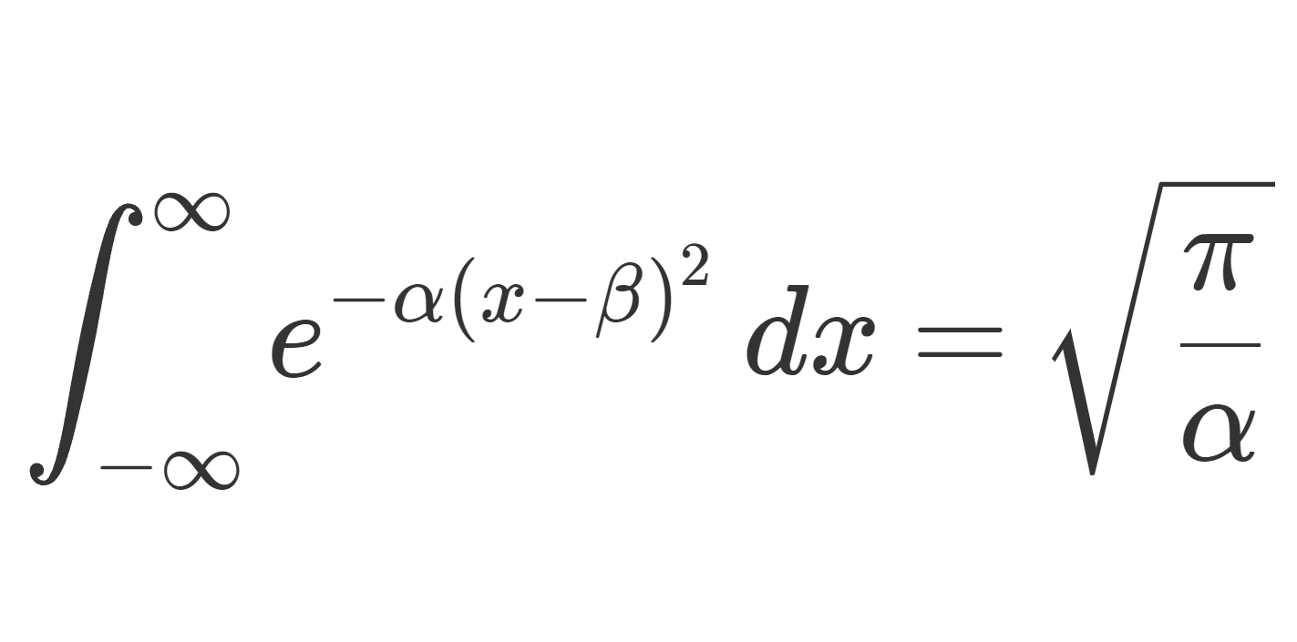 複素数版のガウス積分